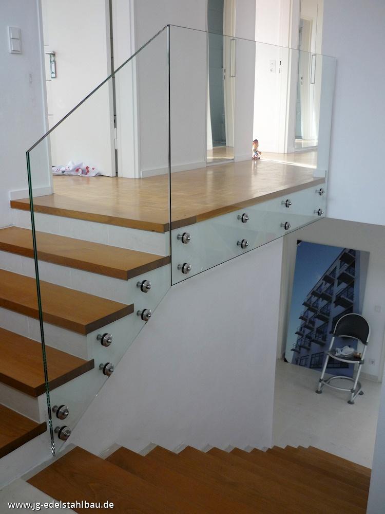 edelstahlgel nder mit glas jg edelstahlbau karlsruhe. Black Bedroom Furniture Sets. Home Design Ideas
